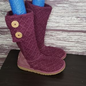 Uggs cardy pink cloth boots size 5